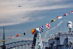 Desfile aéreo da revisão da frota Fotografia de Stock