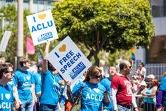 Desfile alegre 2012 del orgullo de San Francisco Imagenes de archivo