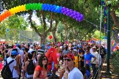 Desfile alegre de Tel Aviv 2010 imagen de archivo libre de regalías