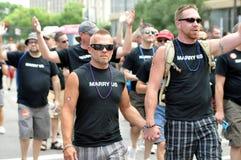 Desfile alegre del orgullo Fotos de archivo libres de regalías
