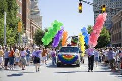 Desfile alegre del orgullo Imagen de archivo libre de regalías