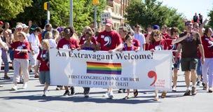 Desfile alegre del orgullo fotografía de archivo