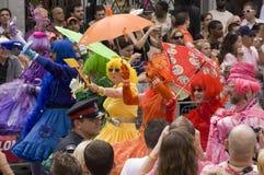 Desfile alegre del orgullo Imágenes de archivo libres de regalías