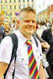 Desfile alegre del orgullo de Helsinki Fotografía de archivo libre de regalías