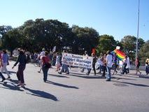 Desfile alegre del orgullo de Tejas Imagenes de archivo