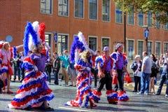 Desfile alegre del orgullo en Manchester, Reino Unido 2011 Imagen de archivo libre de regalías