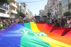 Desfile alegre del orgullo en Tel Aviv. Imágenes de archivo libres de regalías