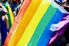 Desfile alegre del orgullo en Tel Aviv, Israel imagen de archivo libre de regalías