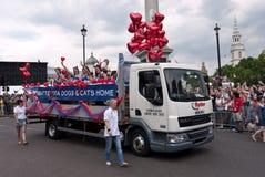 Desfile alegre Londres 2011 del orgullo Foto de archivo
