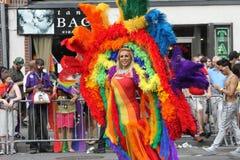 Desfile alegre New York City 2011 del orgullo Imágenes de archivo libres de regalías