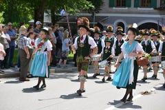 Desfile alemán en Baviera imagen de archivo