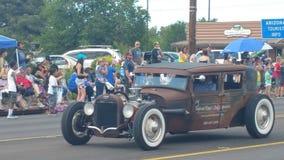 Desfile bajo del Día de la Independencia de la demostración del coche 2016 del vintage Foto de archivo