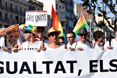 Desfile Barcelona 2011 del orgullo Imagenes de archivo