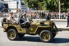 desfile cívico militar que celebra la independencia del Brasil fotografía de archivo