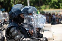 desfile cívico militar que celebra la independencia del Brasil imagen de archivo libre de regalías