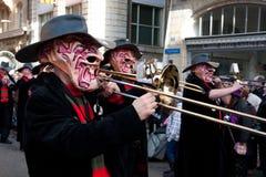 Desfile, carnaval en Basilea, Suiza Fotografía de archivo libre de regalías