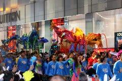 Desfile chino 2011 de la noche del Año Nuevo de Int'l Fotografía de archivo libre de regalías