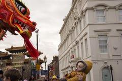 Desfile chino de la calle del Año Nuevo de Liverpool Fotografía de archivo libre de regalías