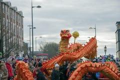 Desfile chino de la calle del Año Nuevo de Liverpool Imagenes de archivo