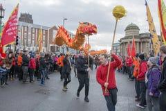 Desfile chino de la calle del Año Nuevo de Liverpool Imagen de archivo libre de regalías