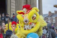 Desfile chino de la calle del Año Nuevo de Liverpool Foto de archivo
