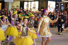 Desfile chino de la noche del Año Nuevo Fotografía de archivo libre de regalías