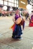 Desfile chino de la noche del Año Nuevo Foto de archivo