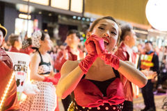 Desfile chino de la noche del Año Nuevo Imágenes de archivo libres de regalías