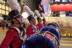 Desfile chino de la noche del Año Nuevo Fotos de archivo