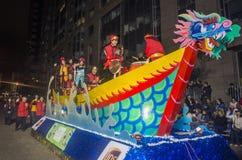 Desfile chino del Año Nuevo Foto de archivo