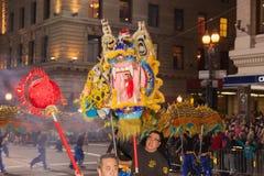 Desfile chino del Año Nuevo en Chinatown Imágenes de archivo libres de regalías