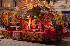 Desfile chino del Año Nuevo en Chinatown Fotografía de archivo