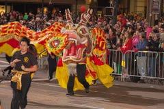 Desfile chino del Año Nuevo en Chinatown Imagen de archivo