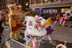Desfile chino del Año Nuevo en Chinatown Fotos de archivo
