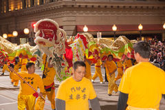 Desfile chino del Año Nuevo en Chinatown Fotografía de archivo libre de regalías