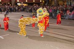 Desfile chino del Año Nuevo en Chinatown Fotos de archivo libres de regalías
