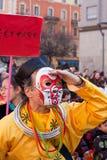 Desfile chino del Año Nuevo en Milano Imágenes de archivo libres de regalías