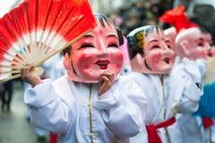 Desfile chino del Año Nuevo en París Imágenes de archivo libres de regalías