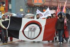 Desfile chino del Año Nuevo, venda de Musqueam Foto de archivo