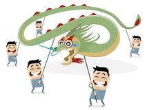 Desfile chino del dragón stock de ilustración
