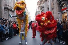 Desfile chino del dragón Imagen de archivo libre de regalías