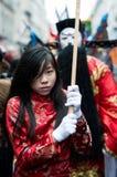 Desfile chino en París Imagenes de archivo