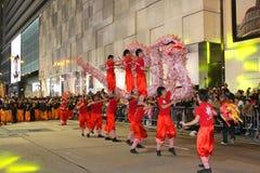 Desfile chino internacional 2013 de la noche del Año Nuevo Imagenes de archivo