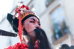 Desfile chino París del Año Nuevo Foto de archivo