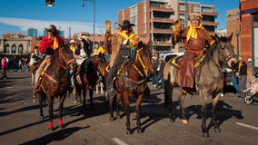 Desfile común occidental de la demostración Imagen de archivo