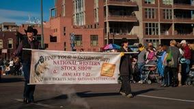 Desfile común occidental de la demostración Fotografía de archivo