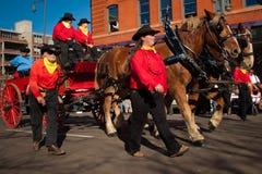 Desfile común occidental nacional de la demostración Imagen de archivo libre de regalías