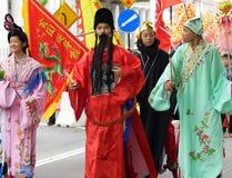 Desfile cultural del chino tradicional Fotos de archivo