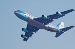 Desfile de aviones de Air Force One Foto de archivo libre de regalías