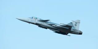 Desfile de aviones de Gripen Fotos de archivo libres de regalías